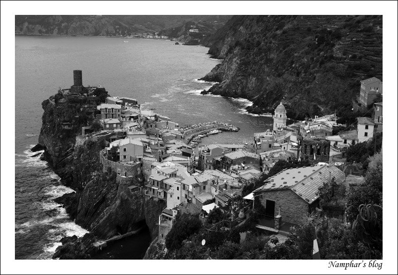 Vernazza n&b